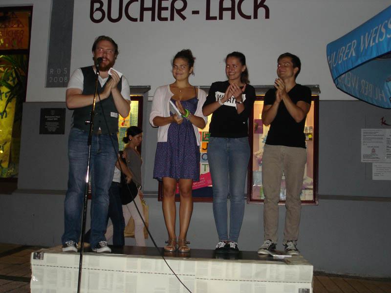 Die drei Finalisten auf der Bühne